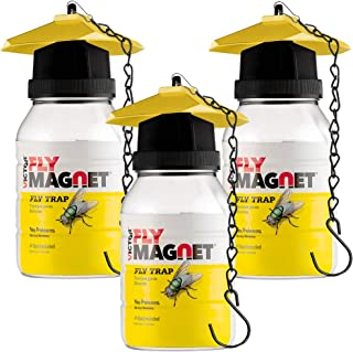 SEWANTA Victor M380 [Set of 3] Reusable Outdoor Fly Traps 32 oz - Fly Magnet Bait Trap - Made in USA - Bundled with 3 Bait...