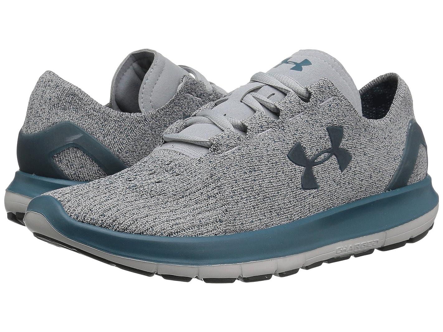 メイエラ郵便トリッキー(アンダーアーマー) UNDER ARMOUR レディースランニングシューズ?スニーカー?靴 UA Speedform Slingride TRI Overcast Gray/Glacier Gray/Marlin Blue 5 (22cm) B - Medium