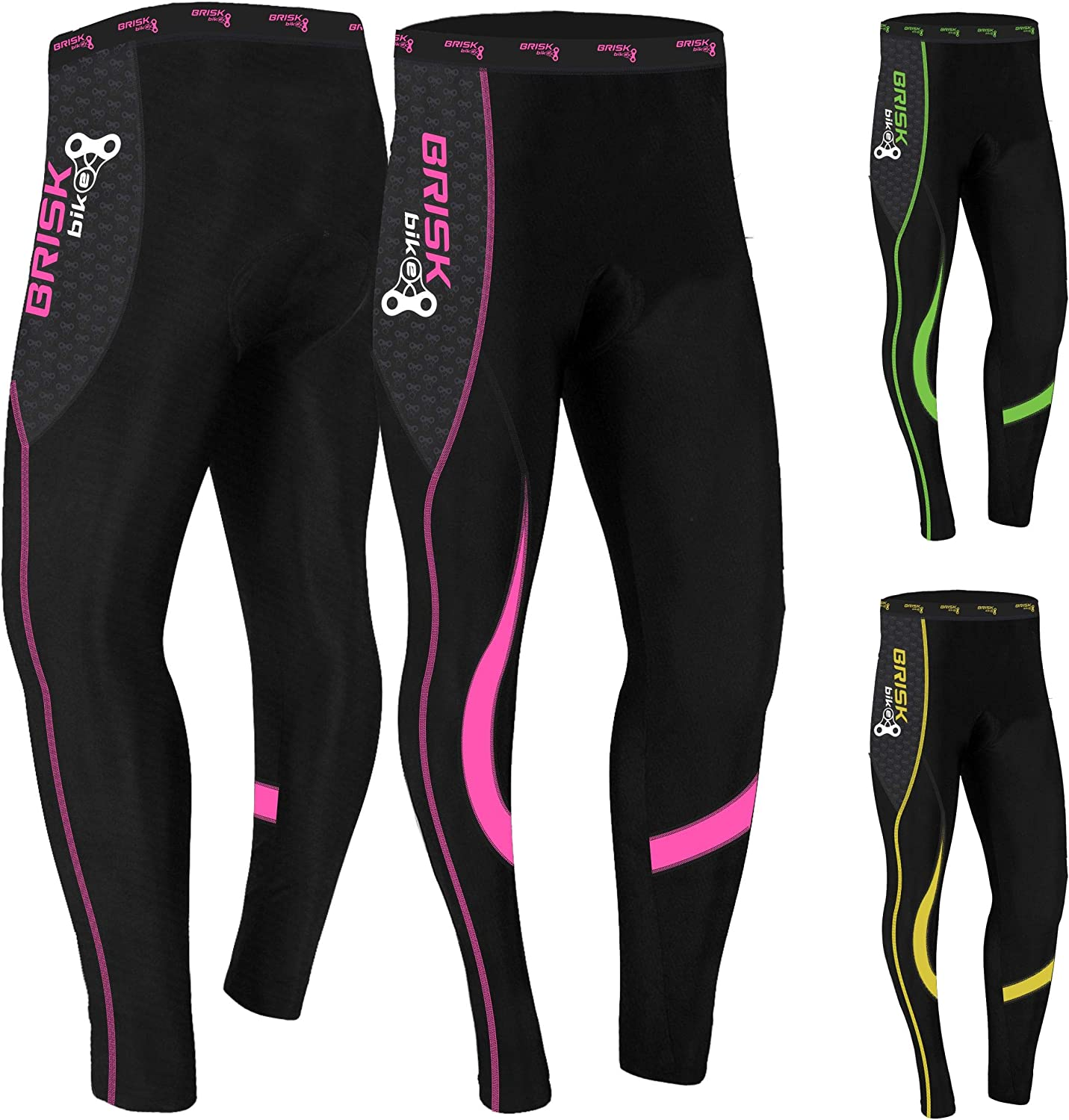 Brisk アイテム勢ぞろい Bike Cycling Trousers Tights Legg Compression Pants 新作通販 Padded