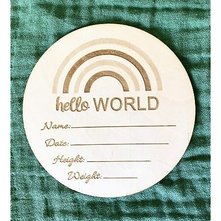 Baby Announcement Hello World Photo Birth Announcement Photo Baby Card Newborn Announcement Birth Card Birth Announcement