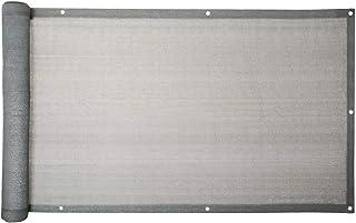 ESTEXO Balkon Sichtschutz/Balkonbespannung Balkonsichtschutz Balkonverkleidung 0,75 m x 6,00 m - Grau
