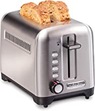 Hamilton Beach 22990 Professional 2 Slice Toaster, with Bagel, Defrost & Reheat Settings, Stainless Steel