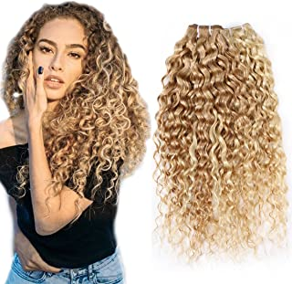 FASHION LINE Brazilian P27/613 Water Wave Blonde Human Hair Extensions Unprocessed Human Hair Bundles Weft 1PC 100g(NEW 24