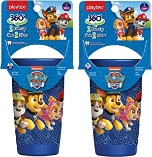 Playtex Sipsters Stage 2 360 Degree Paw Patrol Spill-Proof, Leak-Proof, Break-ProofSpoutless Cup for Boys, 10 Ounce - Pac...