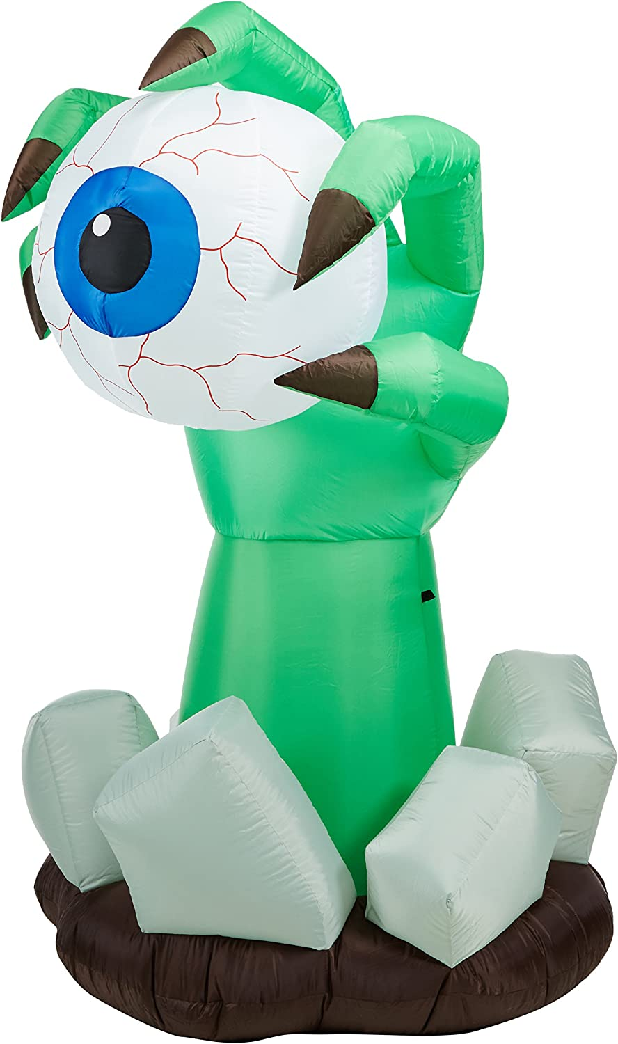 BZB Goods 6 Foot Illuminated Halloween Inflatable Monster Claw with bluee Eyeball Decoration