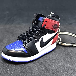 Air Jordan I 1 Retro Top 3 Blue Red Black OG Sneakers Shoes 3D Keychain Figure