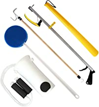RMS Hip Kit - Premium 5-Piece Hip Knee Replacement Kit - Ideal for Recovering from Hip Replacement, Knee or Back Surgery, Mobility Tool for Moving and Dressing (32 Inch Reacher)