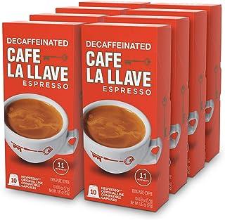 Café La Llave Decaf Espresso Capsules, Intensity 11 (80 Pods) Compatible with Nespresso OriginalLine Machines, Single Cup ...
