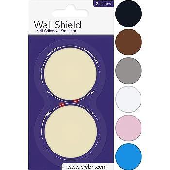 Silicone Wall Protectors from Door knobs Ivory - Self Adhesive Round Plate - Door Bumper Pads Ivory - Rubber Door Handle Bumper Guard for Door Knob, Kitchen, Office (2inch, Beige/Ivory)