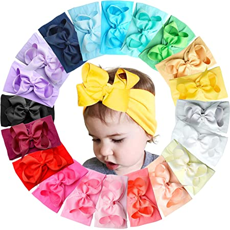 See sizes and styles now! Country theme bow Little flower hair bows for baby toddler and girls
