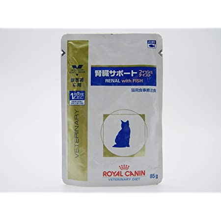 【療法食】 ロイヤルカナン キャットフード 腎臓サポート パウチ フィッシュ 85g×24 (ケース販売)
