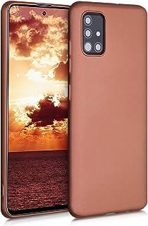 kwmobile telefoonhoesje compatibel met Samsung Galaxy A51 - Hoesje voor smartphone - Back cover in metallic brons