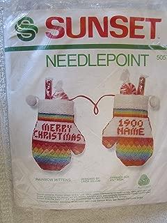 Rainbow Mittens Needlepoint Kit