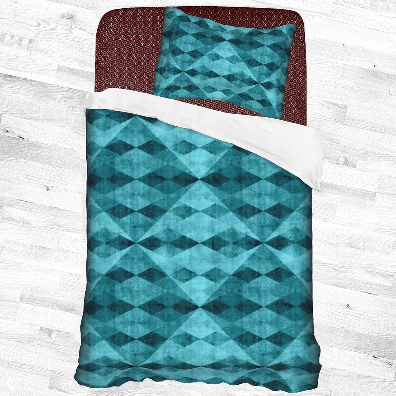 In Max 64% OFF a popularity Olanustu Queen Comforter Set Blue Lightweight Sof Rhombus Square