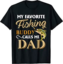 Men's My Favorite Fishing Buddy Calls Me Dad - Fish T-Shirt