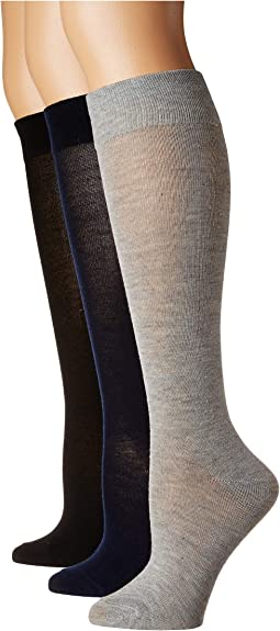 3-Pack Solid Classic Knee High