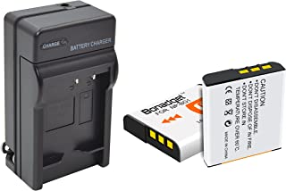 NP-BG1 Battery Bonadget 1600mAh NP-FG1 Replacement Battery Compatible with Sony BC-CSG BC-CSGB BC-CSGC BC-TRG and Sony CyberShot DSC Series Camera (White, 2pcs Batteries + Charger)