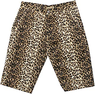 Men's Casual Slim Fit Colored Animal Print Chino Shorts