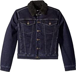 Denim Jacket with Sherpa Collar & Lining (Big Kids)
