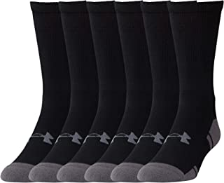 Under Armour Adult Resistor 3.0 Crew Socks, 6 Pairs