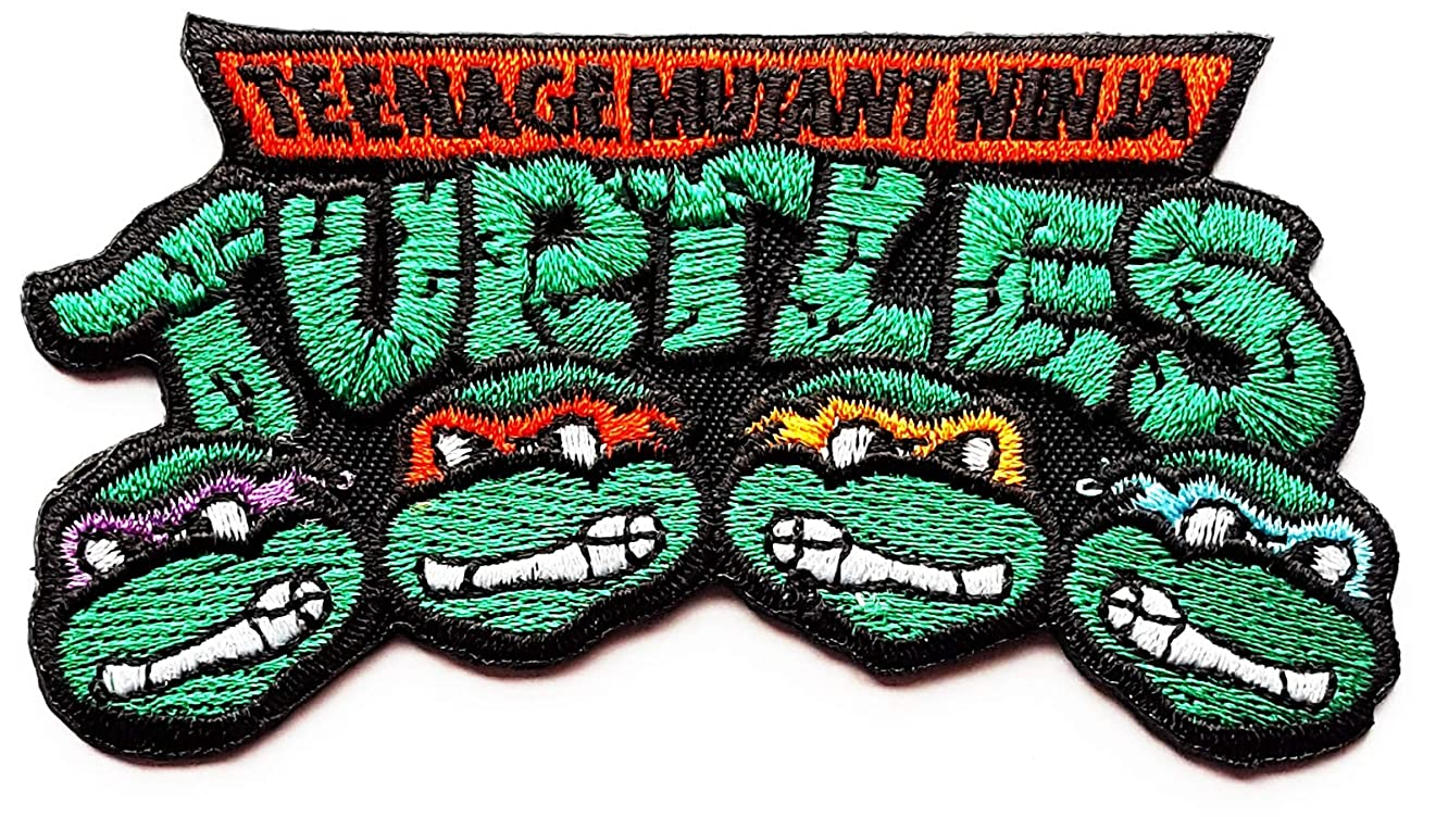 Teenage Mutant Ninja Turtles Patches Superhero Marvel Comics Children Kids Cartoon Patch Applique for Clothes Great as Happy Birthday Gift