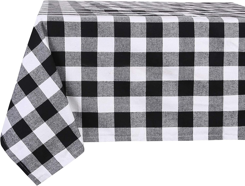 Kansas City Spasm price Mall Souactimuy Tablecloth Flannel Checkered Plaid Bu Rectangular