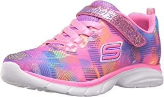 Skechers Kids' Spirit Sprintz-Rainbow Raz Sneaker Running Shoe