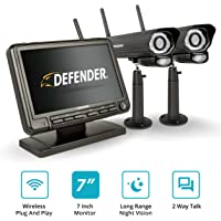 Deals on Defender Phoenixm2 4-Channel 2-Camera Wireless Security System 7-in