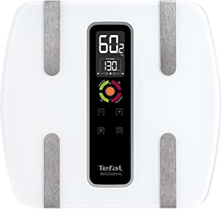 Tefal Bodysignal 3 BM7100S6 - Báscula de baño (LCD, transparente, LR03, vidrio)