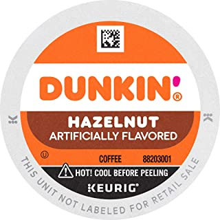 Dunkin' Hazelnut Flavored Coffee, 88 K Cups for Keurig Coffee Makers