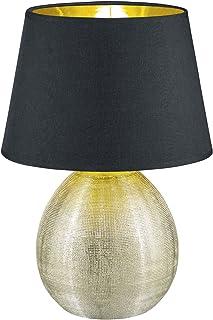 Reality, Lampe de table, Luxor 1xE27, max.60,0 W Tissu, Multicouleur, Corps: Céramique, or Ø:24,0cm, H:35,0cm IP20,Interru...