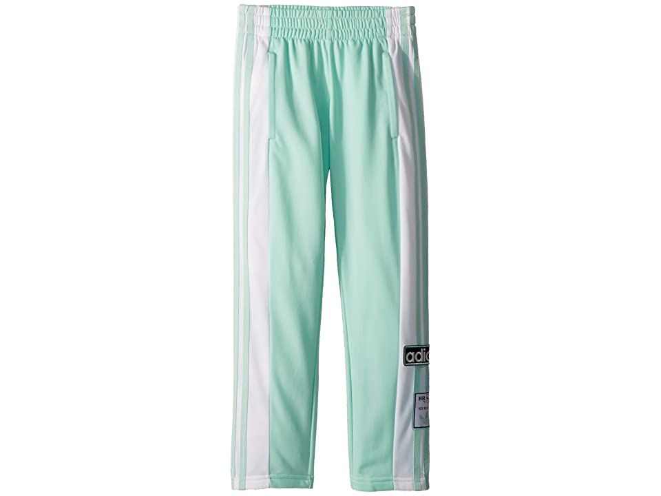 Image of adidas Originals Kids Adibreak Pants (Little Kids/Big Kids) (Clear Mint/White) Kid's Casual Pants