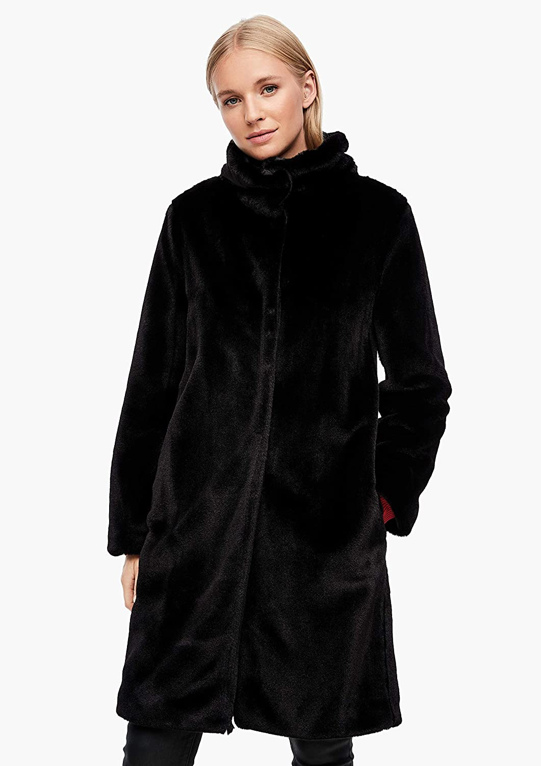 s.Oliver Damen Teddy-Mantel aus Fake Fur 9999