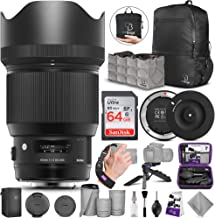 Sigma 85mm f/1.4 DG HSM Art Lens for Canon EF Cameras + Sigma USB Dock with Altura Photo Advanced Accessory and Travel Bundle