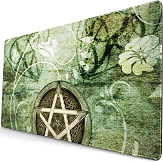 Mouse Pads Mat with Stitched Edges Wiccan Wicca Rustica Woodland Pagan Witch Handfasting Wedding Natural Non-Slip Rubber M...