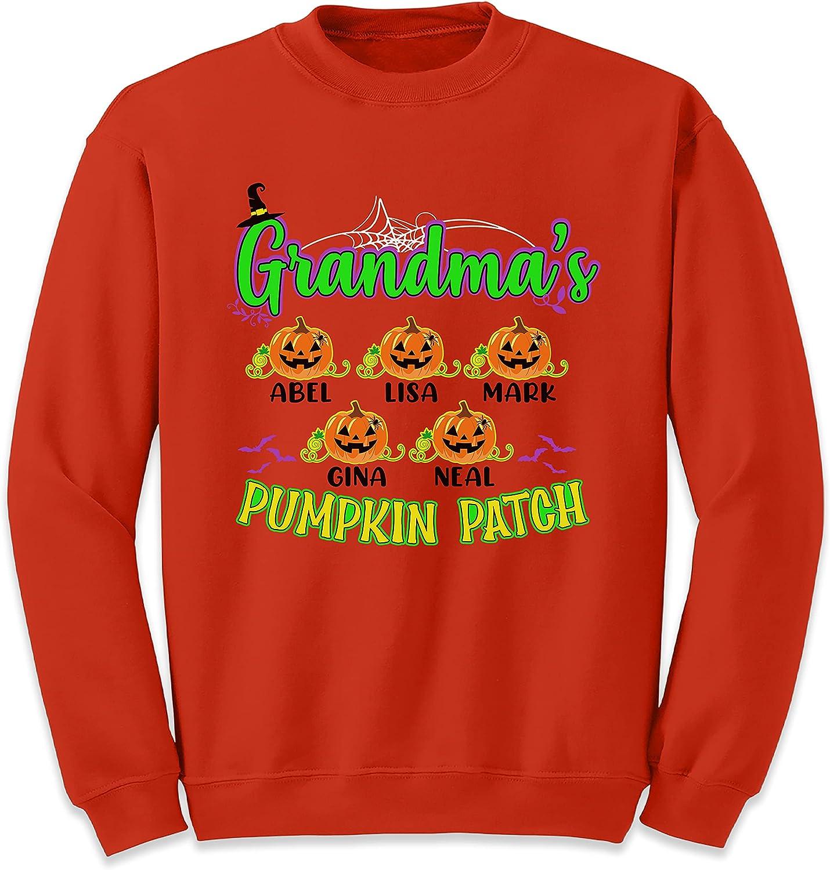 Custom Grandma's Pumpkin Patch San Jose Mall Grandmother Halloween Max 41% OFF Kids W Name