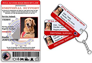Emotional Support Animal ID and 3 KeyTags