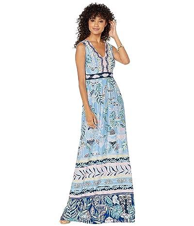 Lilly Pulitzer Mckinley Maxi Dress (Blue Peri Lapis Lanterns Engineered Maxi Dress) Women