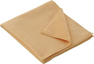 """Superio Microfiber Cleaning Cloth 16"""" x 16"""" Yellow Washing Towel for Home, Kitchen, Auto, Window and Office/No Detergents ..."""