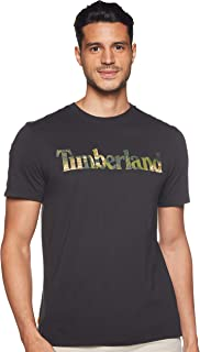 Timberland mens Kennebec River Seasonal Pattern Linear Logo Tee T-Shirt