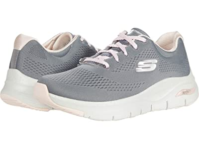 SKECHERS Arch Fit Big Appeal (Grey/Pink) Women