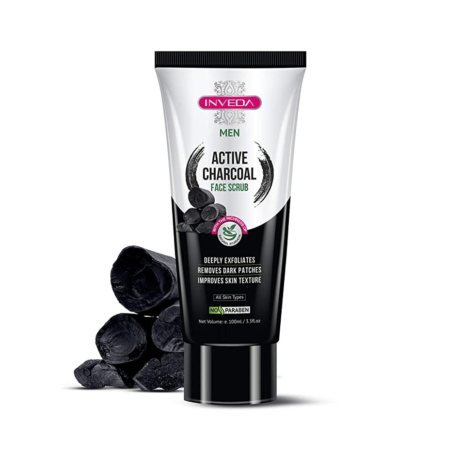 Inveda Active Charcoal Scrub for Men