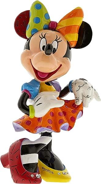 Enesco Disney By Britto Minnie Mouse Bling 90th Celebration Stone Resin Figurine Multicolor