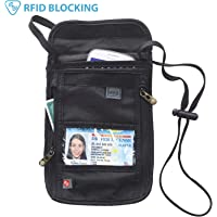 Lewis N. Clark RFID Blocking Stash Neck Wallet (Black)