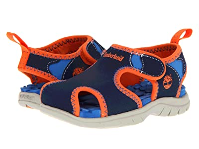 Timberland Kids Little Harbor (Toddler/Little Kid) (Navy w/ Royal/Orange) Boys Shoes