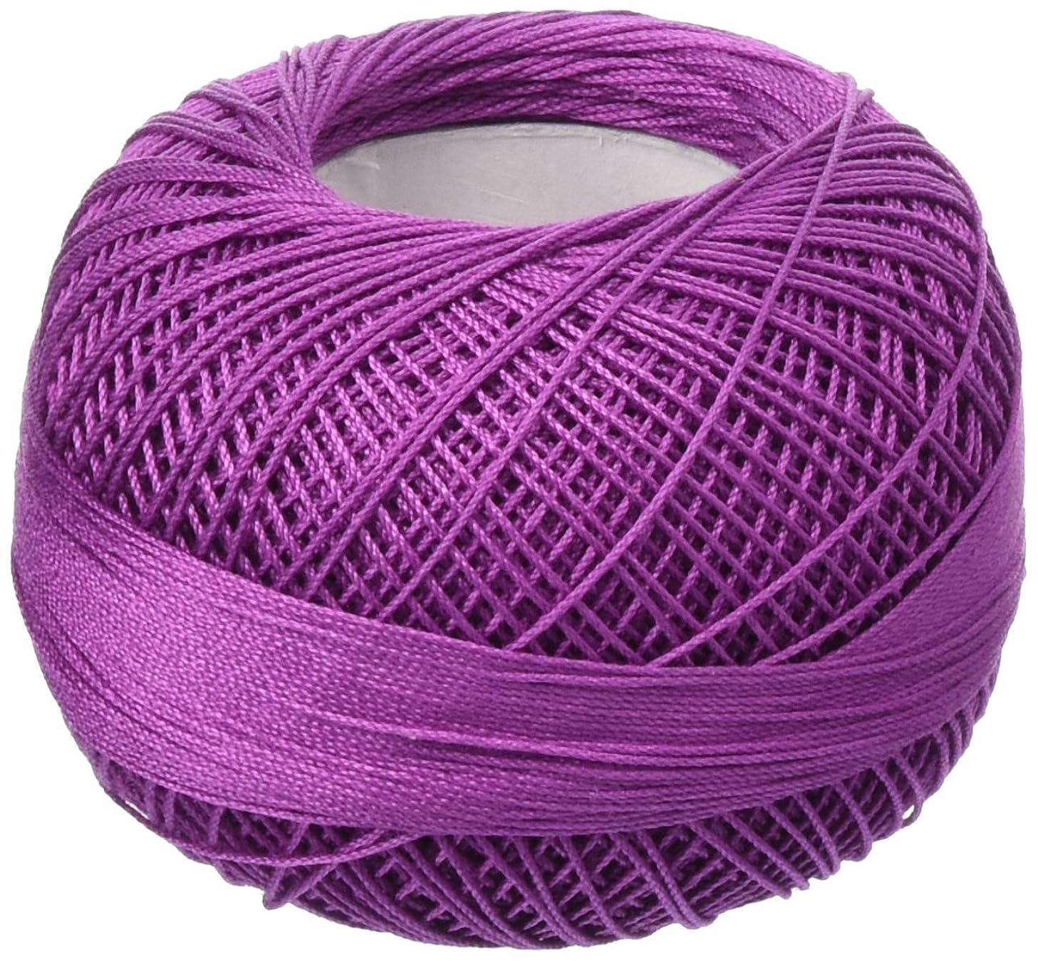Handy Hands 210-Yard Lizbeth Cotton Thread, 25gm, Dark Violet/Pink