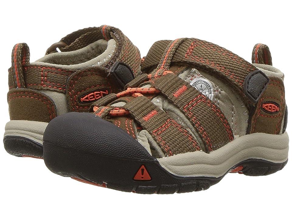 Keen Kids Newport H2 (Toddler) (Dark Earth/Spicy Orange) Boys Shoes
