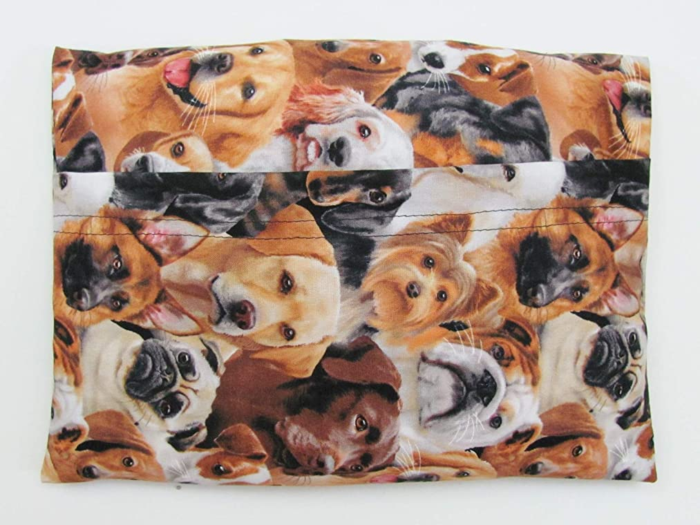 Microwave Heating Pad, Removable Washable Covers, Unscented or Lavender Scented, Multi Breed Dog Pattern