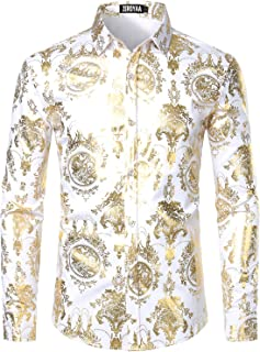 Best white and gold button down shirt Reviews