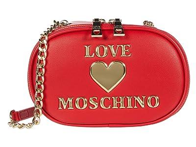 LOVE Moschino Logo Camera Bag (Red) Handbags